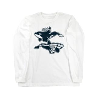 オルカライトハウス・スーベニールシンプル Long sleeve T-shirts
