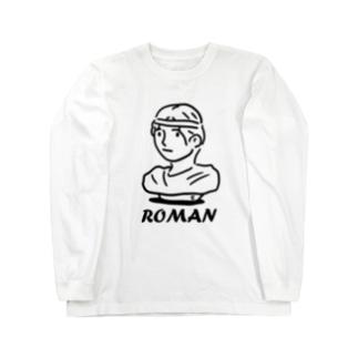 ローマンセッコウゾウ Long sleeve T-shirts