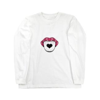 愛を差し出す、愛を飲む。 Long sleeve T-shirts