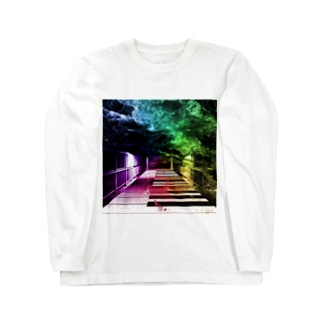 非現実的空間【Piano】 Long sleeve T-shirts