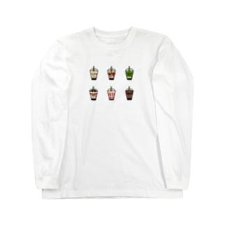 タピオカドリンク Long sleeve T-shirts