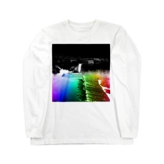 非現実的空間【徳島県内某所-01】 Long sleeve T-shirts