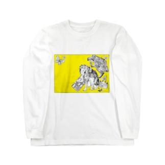 Retro Design Letter Long sleeve T-shirts
