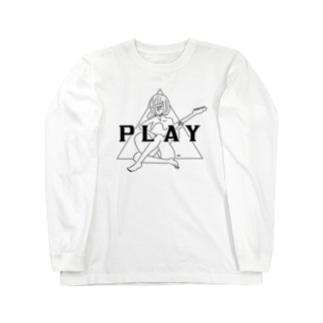 PLAY GIRL(期間限定販売)白ボディ推奨 Long sleeve T-shirts