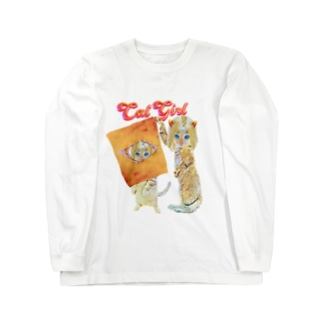 CAT GIRL 隠れん坊 Long sleeve T-shirts