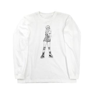 たまには逃げちゃえば? B&W Long sleeve T-shirts
