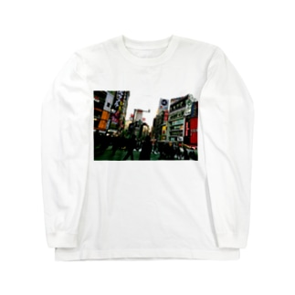 カラーの渋谷スクランブル交差点 Long sleeve T-shirts