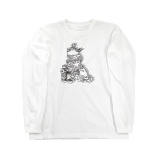 ヒゲバーガー よくばりセット Long sleeve T-shirts