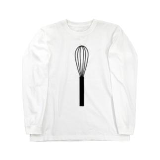 泡立て器 Long sleeve T-shirts