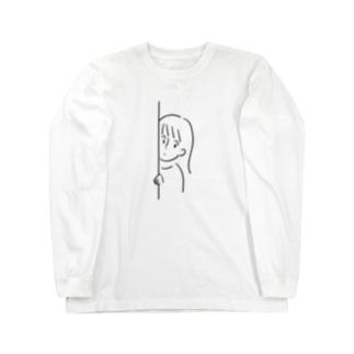 ひょっこりちゃん Long sleeve T-shirts