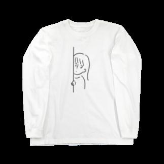 チチチ商店のひょっこりちゃん Long sleeve T-shirts