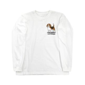 ビーグル(両面2) Long sleeve T-shirts
