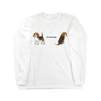 ビーグル3 Long sleeve T-shirts