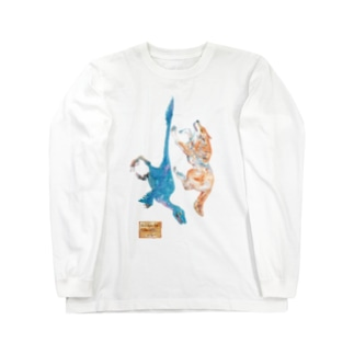 Wolf and Velociraptor Long sleeve T-shirts