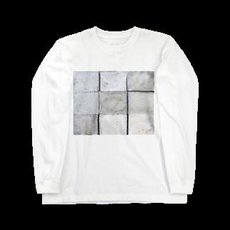 DAIGAKUKUNのコンクリート Long sleeve T-shirts