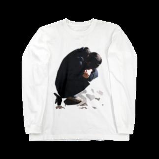 DAIGAKUKUNの落ち込む女性 Long sleeve T-shirts