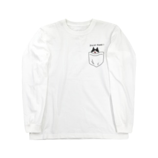 ハチワレねこ Long sleeve T-shirts