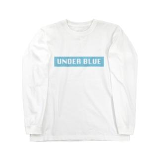 UNDER BLUEボックスロゴ Long sleeve T-shirts