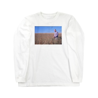 MERRILL OVESON IN A FIELD, CIRCA 1975 Long sleeve T-shirts