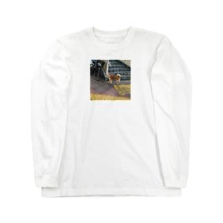 歩道橋の下のワンコロ Long sleeve T-shirts