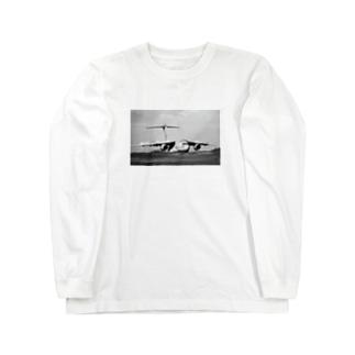 飛行機C-2輸送機 Long sleeve T-shirts