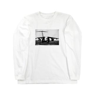 飛行機C-1輸送機 Long sleeve T-shirts