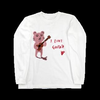 TACAのグッズ売り場のピン君 I LOVE GUITAR Long sleeve T-shirts