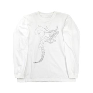 ドラゴン3塗り絵デザイン Long Sleeve T-Shirt