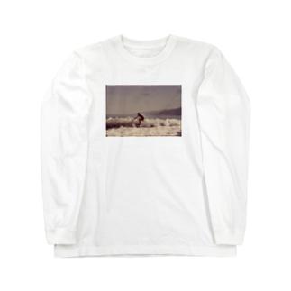 Surfing Along Malibu Beach, California. 10/1972 Long sleeve T-shirts