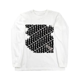 UH5 TV Series+ ver. 黒プリント Long sleeve T-shirts