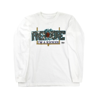 I'M A KICKER フレームレス Long sleeve T-shirts