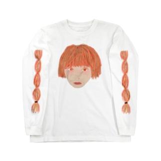 三つ編み断髪ガール2 Long sleeve T-shirts
