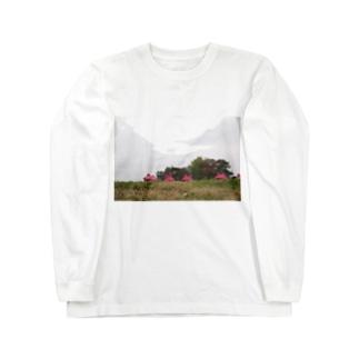 ふかふかひゅーっのよしよしくん Long sleeve T-shirts