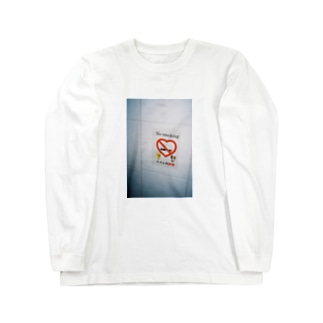 トイレ内禁煙 Long sleeve T-shirts