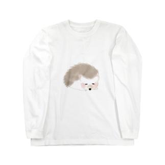 ハリネズミのティラミス Long sleeve T-shirts