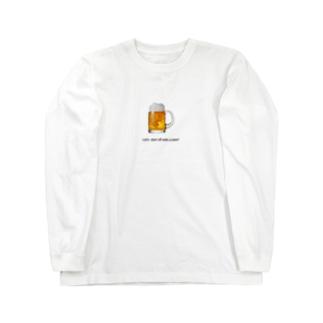 とりあえずビール! Long sleeve T-shirts