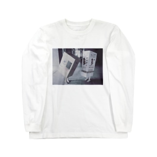 ダンボール女 Long sleeve T-shirts