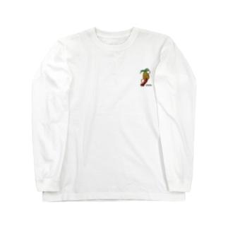 パイナップルスケートボーダー Long sleeve T-shirts