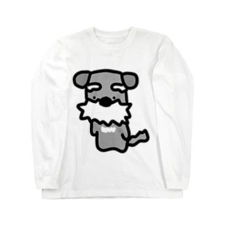 シュナ!はかしこそうな犬! Long sleeve T-shirts
