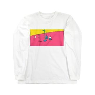 むだげちゃん身体測定 Long sleeve T-shirts
