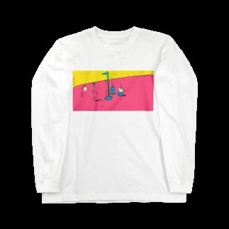 poyosumiのむだげちゃん身体測定 Long sleeve T-shirts