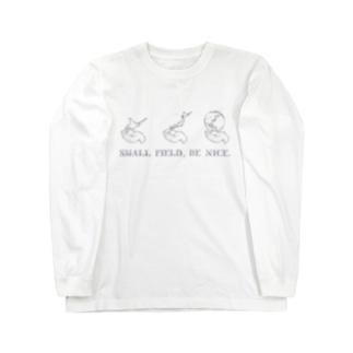 【両面】Small field,be nice Long sleeve T-shirts
