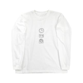 時間厳守 Long sleeve T-shirts