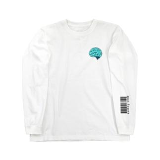 ラブリー脳 パステルブルー Long sleeve T-shirts