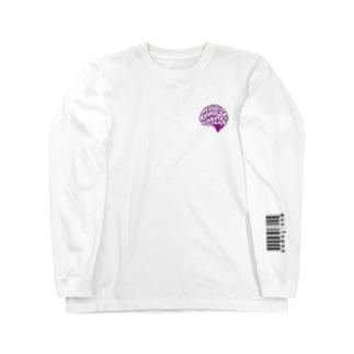 ラブリー脳 パステルピンク Long sleeve T-shirts