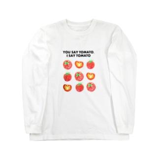 トマトデザイン「埒が明かない」 Long sleeve T-shirts