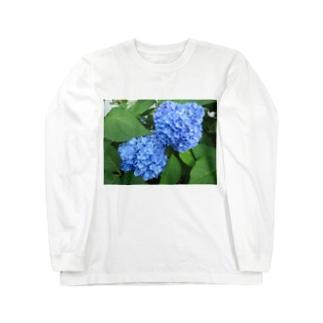 露と空と結ぶ色 Long sleeve T-shirts