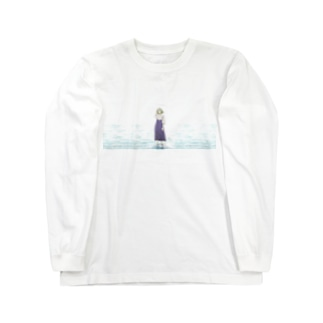 sea side girl Long sleeve T-shirts