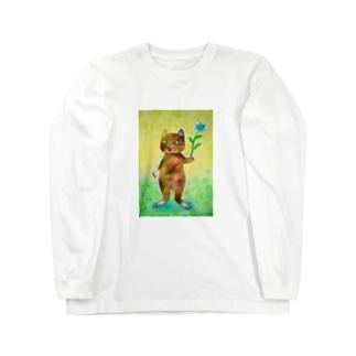 ニゲラとコケねこさん Long sleeve T-shirts