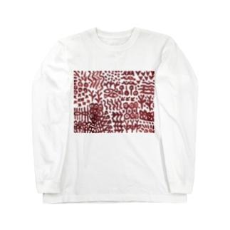 壁画に似た文様 Long sleeve T-shirts